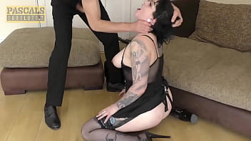 He humiliates her and fucks her in the mouth as hard as he can - porn movies